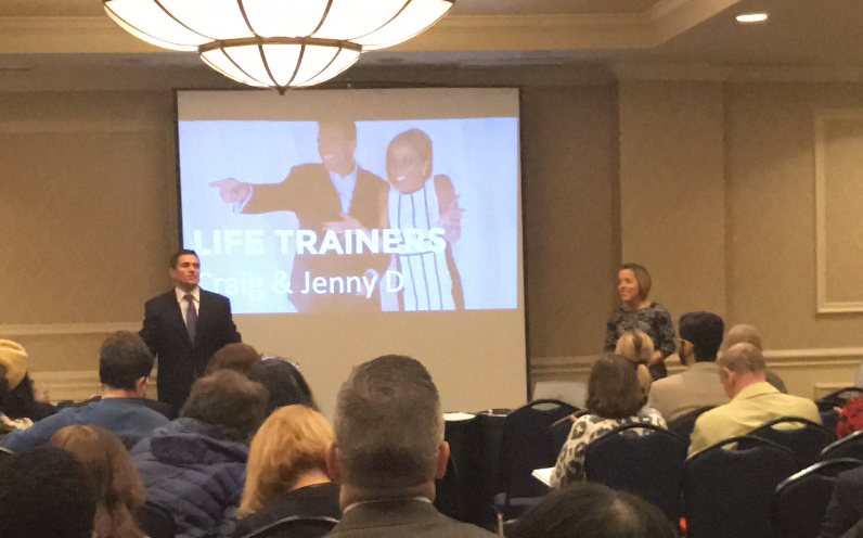 Craig and Jenny empowering hundreds of entrepreneurs in NYC to take control of their lives to  boost productivity and increase fulfillment and freedom.